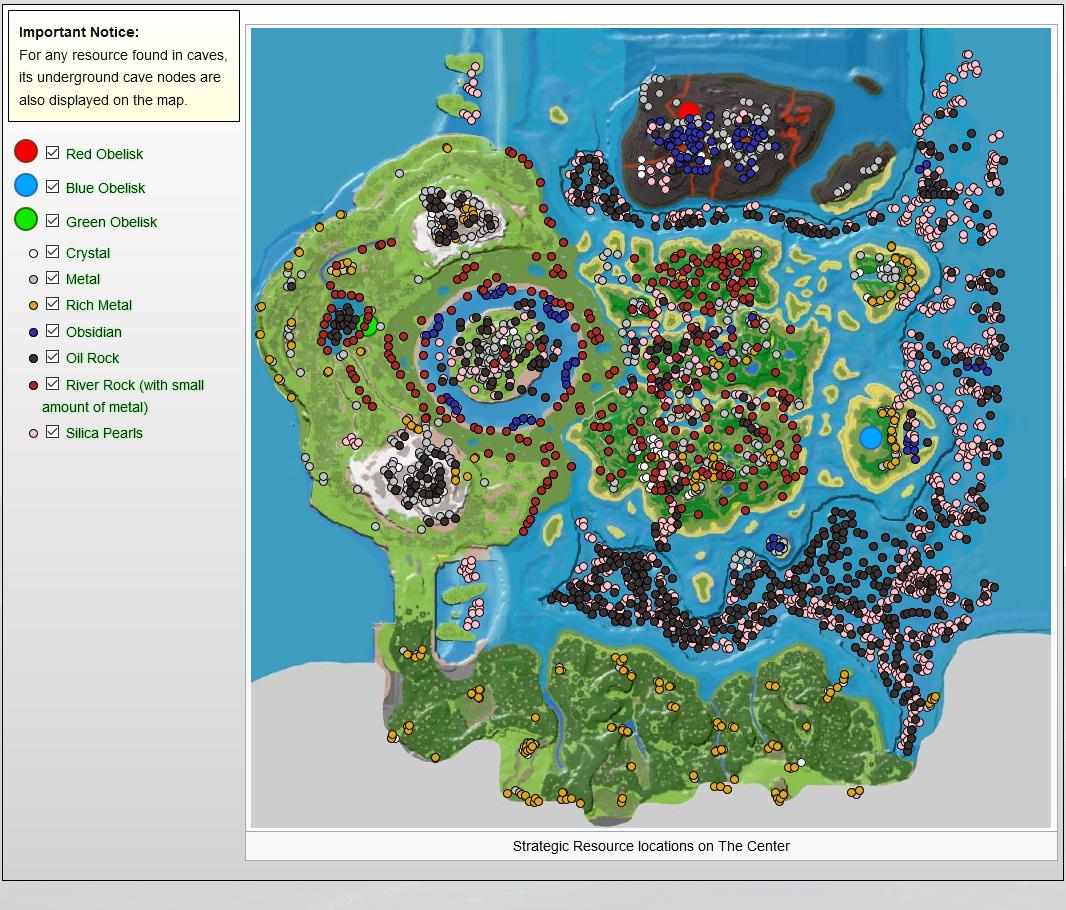 Ark Karte The Island.The Center Ressourcenkarte Ark Forum Atlas Forum Deutsches