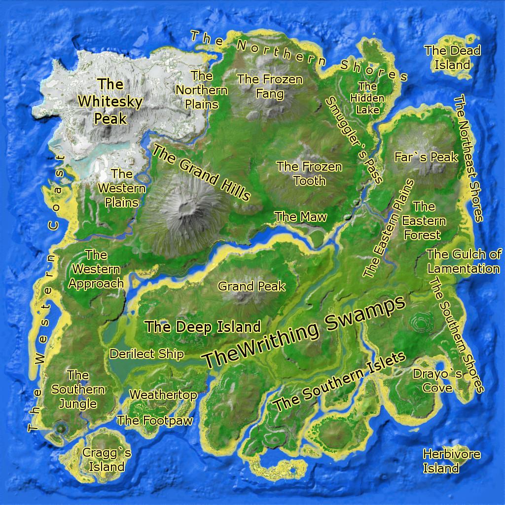 Ark Karte The Island.The Island Gebietsübersicht Ark Forum Atlas Forum Deutsches